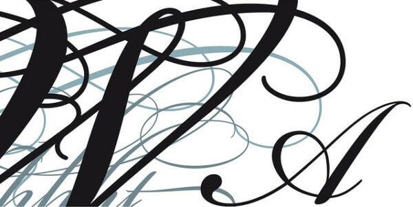 kalligrafikus szöveg