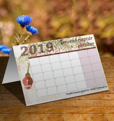 októberi tervező naptár