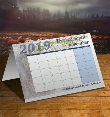 novemberi tervező naptár