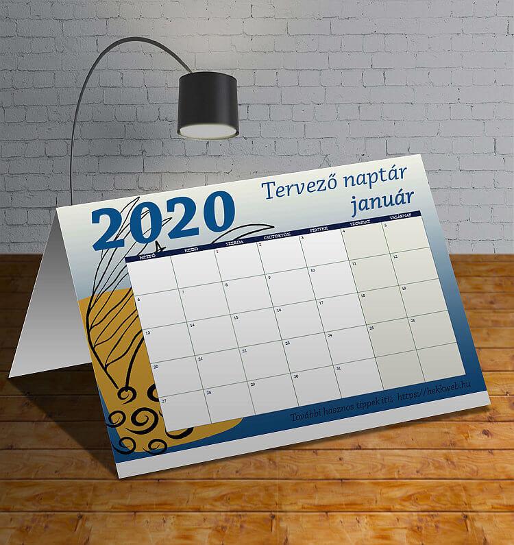 Letölthető januári tervező naptár