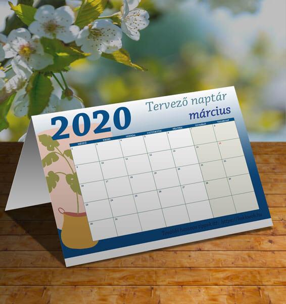 Letölthető márciusi tervező naptár