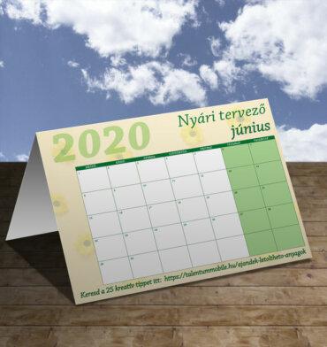 júniusi naptár