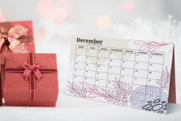 Decemberi tervező naptár vállalkozásoknak