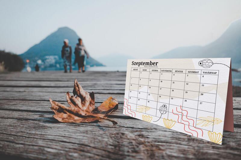 Letölthető szeptemberi tervező naptár
